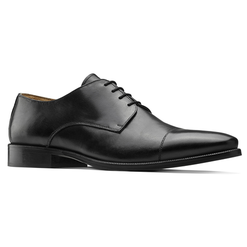 Stringate Derby in vera pelle nera bata-the-shoemaker, nero, 824-6184 - 13