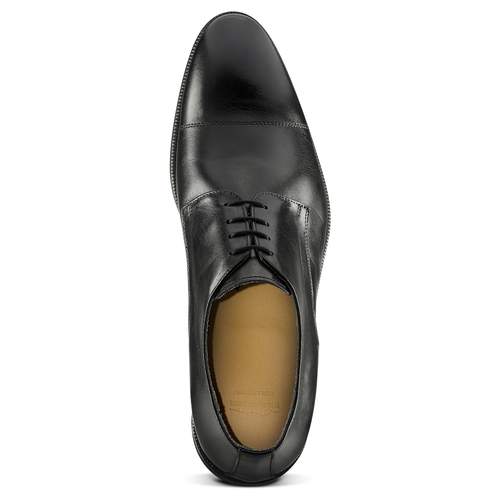 Stringate Derby in vera pelle nera bata-the-shoemaker, nero, 824-6184 - 15