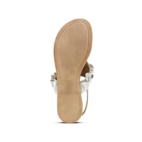 Sandali bassi con volant bata, bianco, 564-1118 - 17