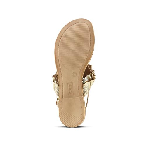 Sandali oro con volant bata, oro, 564-8118 - 17