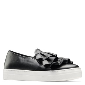 Sneakers in pelle con volant north-star, nero, 514-6135 - 13