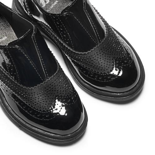 Scarpe in vernice senza lacci mini-b, nero, 221-6201 - 19