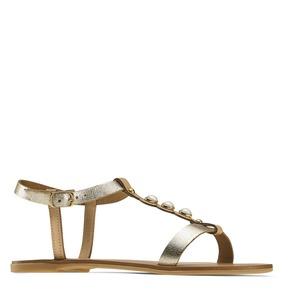 Sandali oro con perle bata, marrone, 541-3134 - 13