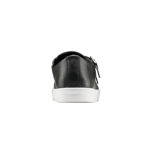 Slip-on nere con fibbie north-star, nero, 831-6110 - 16