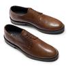 Derby in pelle con punta tonda bata, marrone, 824-3997 - 19