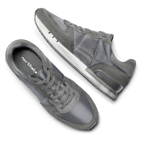 Sneakers North Star uomo north-star, grigio, 849-2732 - 19
