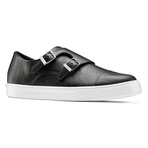 Slip-on nere con fibbie north-star, nero, 831-6110 - 13