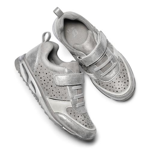 Sneakers con glitter da bambina mini-b, turchese, argento, 329-2295 - 19