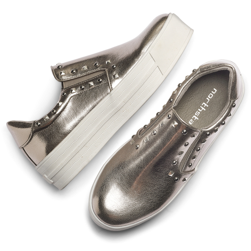 Sneakers metallizzate con borchie north-star, 511-2385 - 19