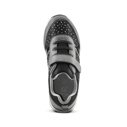 Sneakers metallizzate con strap mini-b, nero, 329-6295 - 15