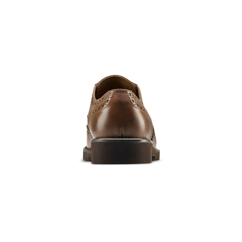 Derby in pelle marrone da uomo bata-light, marrone, 824-4399 - 16