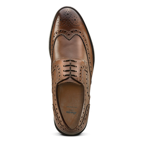 Derby in pelle marrone da uomo bata-light, marrone, 824-4399 - 15