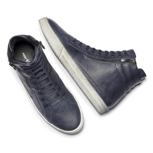 Sneakers alte north-star, blu, 841-0503 - 19