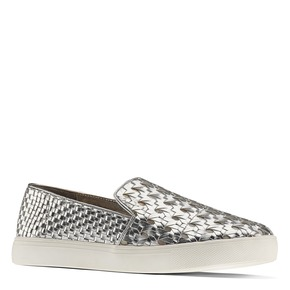 Slip-on intrecciate argento north-star, bianco, 541-1324 - 13