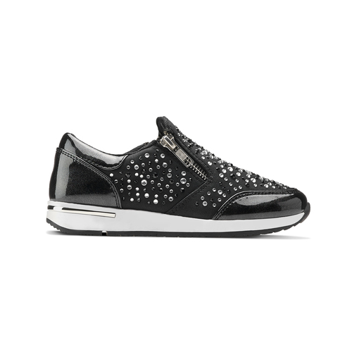 Slip-on con strass mini-b, nero, 329-6289 - 26