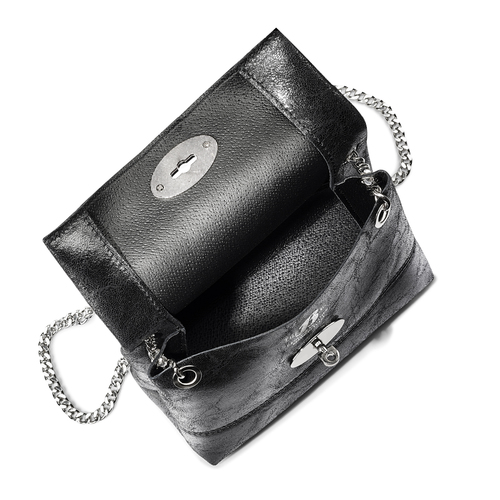 Mini-bag in pelle nera bata, nero, 964-6239 - 16
