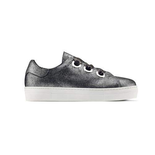 Sneakers metallizzate con lacci in raso north-star, bianco, 543-1359 - 26