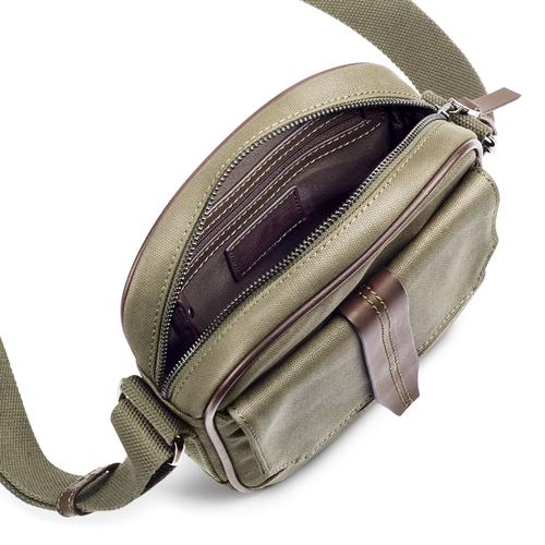Tracolla da uomo con tasca esterna bata, khaki, 969-7126 - 16