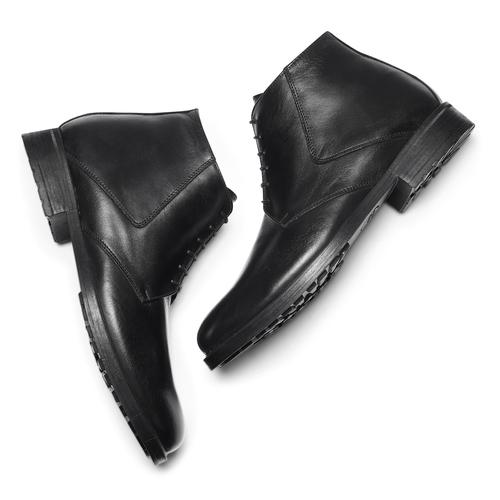 Boots da uomo in pelle nera bata, nero, 824-6115 - 19