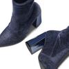 Tronchetti in velluto bata, blu, 799-9648 - 19