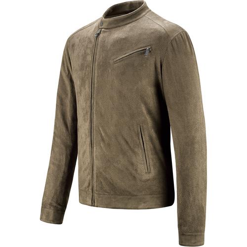 Giacca traforata da uomo con zip asimmetrica bata, beige, 979-7144 - 16