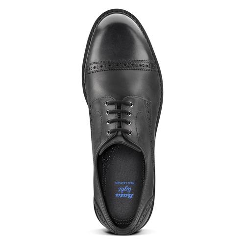 Scarpe derby in pelle bata-light, nero, 824-6977 - 15