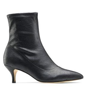 Stivaletti calzino con tacco bata, nero, 699-6171 - 13