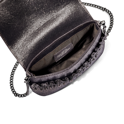 Mini bag con volant bata, marrone, 969-2176 - 16