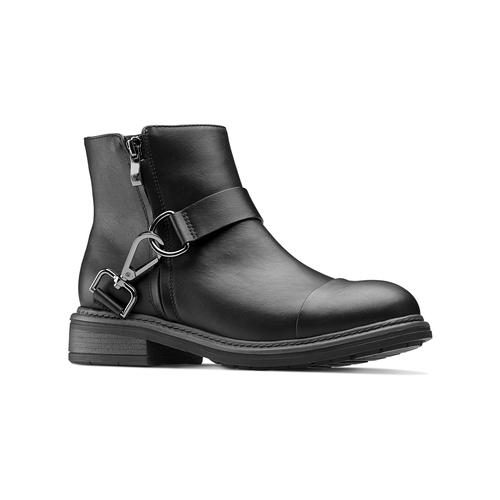 Stivaletti alla caviglia con ganci bata, nero, 591-6155 - 13