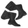 Stivali alti effetto scamosciato bata, nero, 599-6113 - 19
