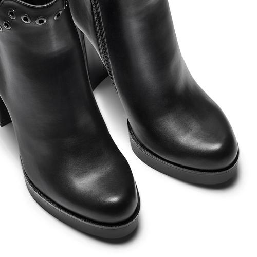Tronchetti con tacco alto bata, nero, 791-6658 - 15