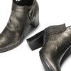 Tronchetti in pelle con tacco bata, nero, 794-6690 - 19