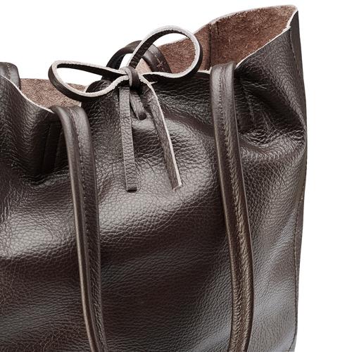 Shopper in Vera Pelle bata, marrone, 964-4122 - 15