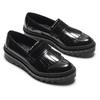 Scarpe in pelle con frange bata, nero, 514-6398 - 19