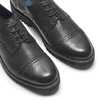 Scarpe derby in pelle bata-light, nero, 824-6977 - 19