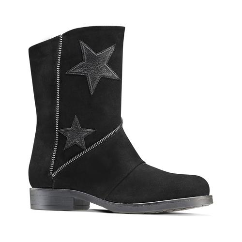Stivali da donna con stelle bata, nero, 593-6105 - 13