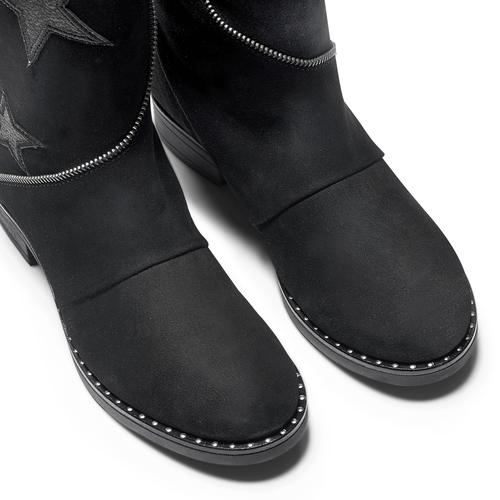 Stivali da donna con stelle bata, nero, 593-6105 - 15