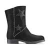 Stivali da donna con stelle bata, nero, 593-6105 - 26