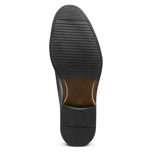 Scarpe da uomo senza lacci in pelle bata, nero, 824-6270 - 17