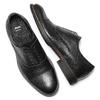Scarpe da uomo senza lacci in pelle bata, nero, 824-6270 - 19