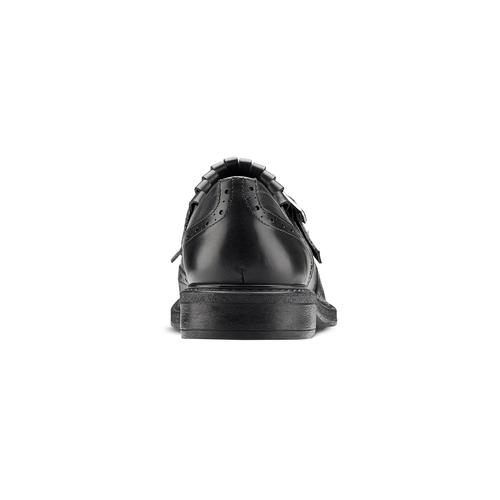 Scarpe da uomo con frange e fibbia bata, nero, 824-6163 - 16