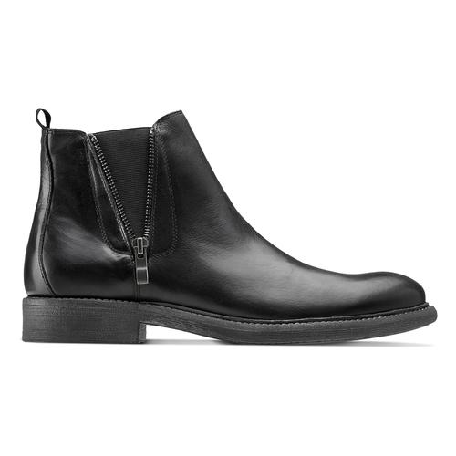Chelsea Boots da uomo con zip bata, nero, 894-6739 - 26