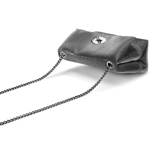 Minibag argento con tracolla bata, grigio, 969-2194 - 17