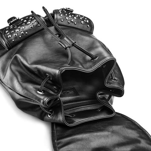 Zaino nero con borchie bata, nero, 961-6150 - 17