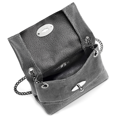 Minibag argento con tracolla bata, grigio, 969-2194 - 16