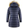 Giubbotto donna dettaglio pelliccia bata, blu, 979-9134 - 26
