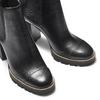 Tronchetti in pelle con tacco largo bata, nero, 794-6165 - 15