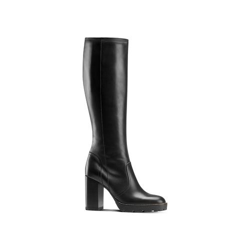 Stivali alti con tacco bata, nero, 794-6159 - 13