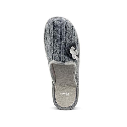Pantofole donna in lana bata, grigio, 579-2421 - 15