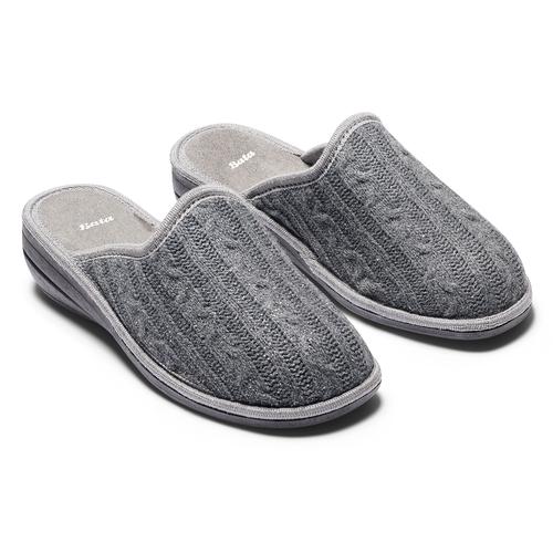 Pantofole in lana bata, grigio, 579-2370 - 19